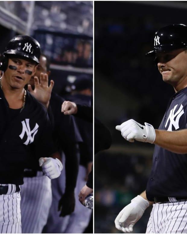New York Yankees Derek Dietrich, Jay Bruce