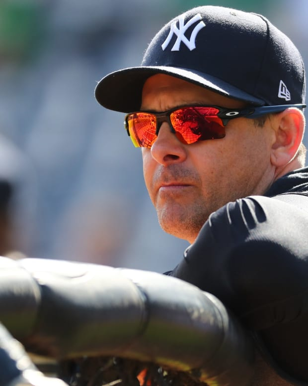 Yankees manager Aaron Boone spring training