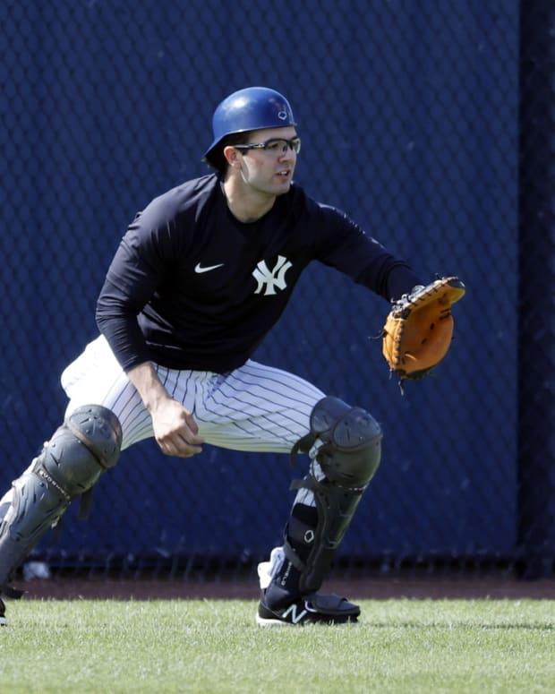 Yankees prospect Austin Wells catching