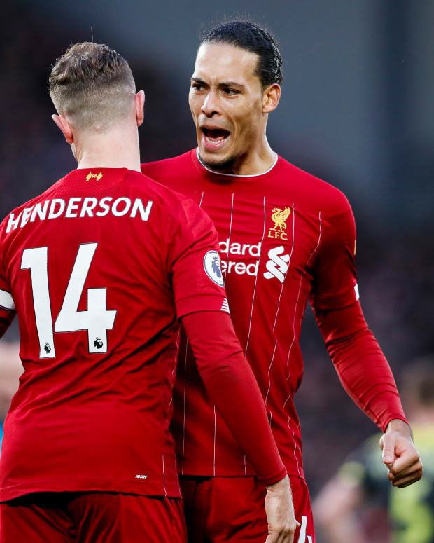 Jordan Henderson and Virgil van Dijk Liverpool players.