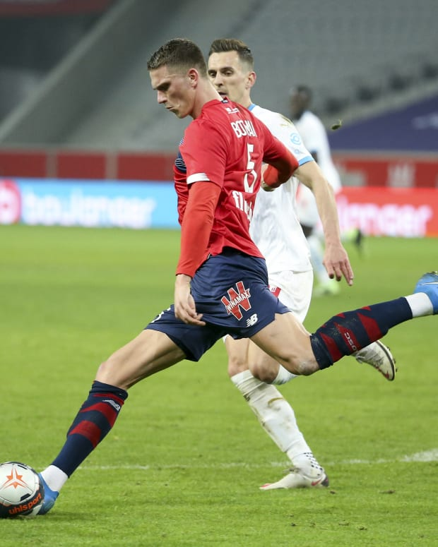 Sven Botman from Lille is a Liverpool target