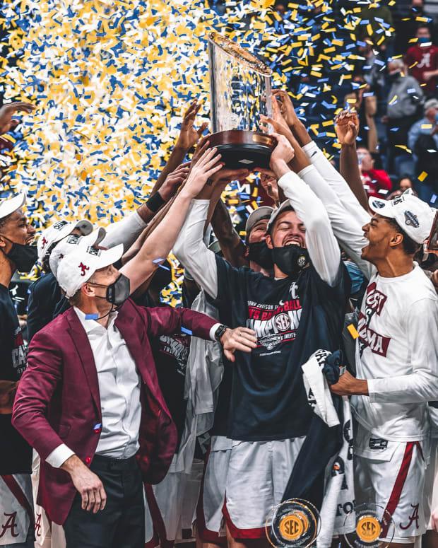 2021 SEC Tournament, Alabama basketball trophy