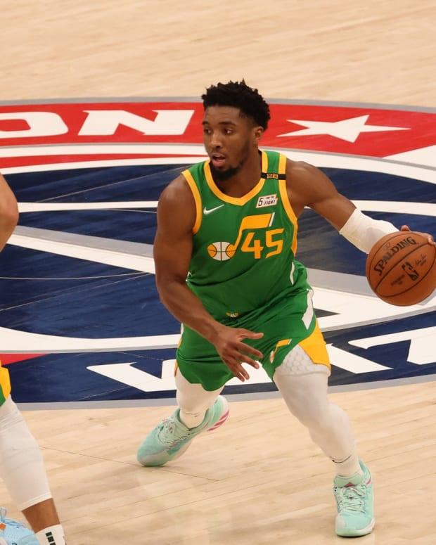 Donovan Mitchell, Rudy Gobert Against Washington Wizards