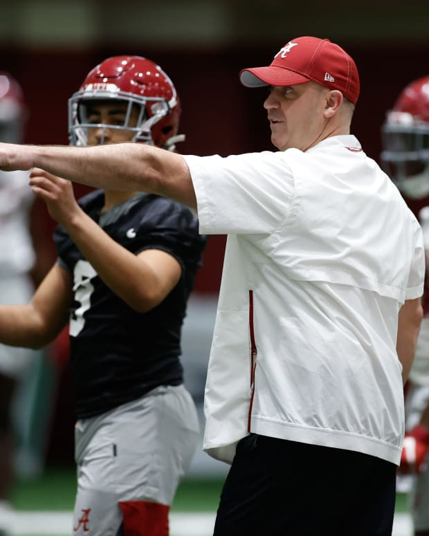 Bill O'Brien, Bryce Young, Alabama spring practice, March 19, 2021