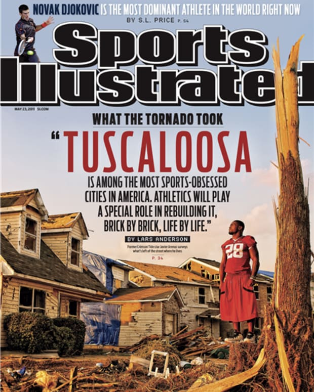 Sports Illustrated cover, Javier Arenas, tornado, May 23, 2011