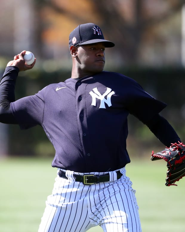 Luis Severino Throwing at Spring Training
