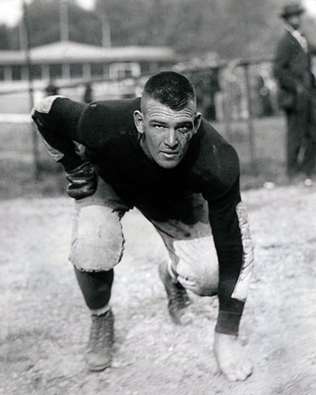 Hank Crisp as a player at Virginia Tech