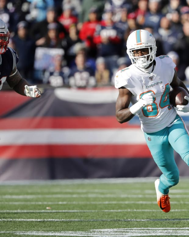 Dolphins wide receiver Isaiah Ford came on strong at the end of last season.