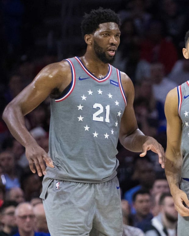 Philadelphia 76ers All-Stars Joel Embiid and Ben Simmons.