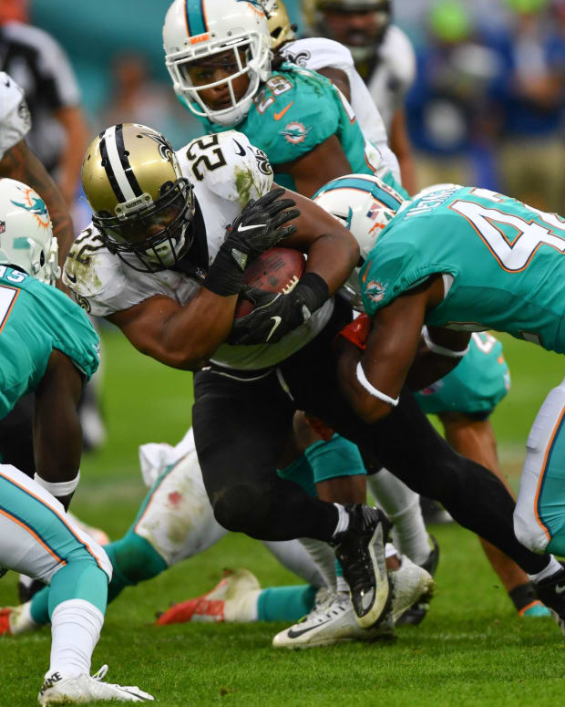 The Miami Dolphins face the New Orleans Saints in London in 2017.