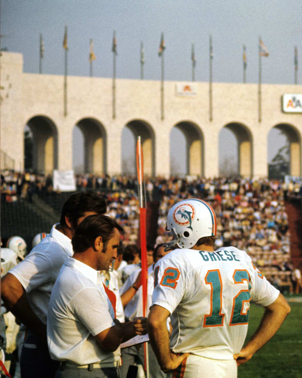 Don Shula with Bob Griese in Super Bowl VII