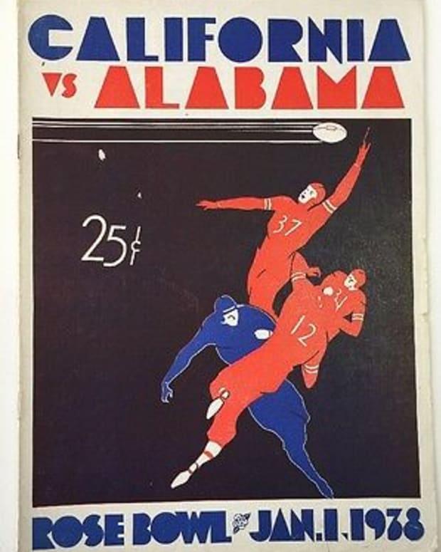 Rose Bowl game program, Alabama vs. California, Jan. 1, 1938