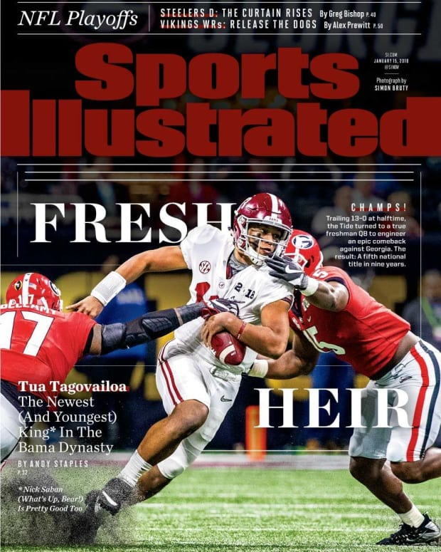 Sports Illustrated cover Tua Tagovailoa, Jan. 15, 2018, Fresh Heir