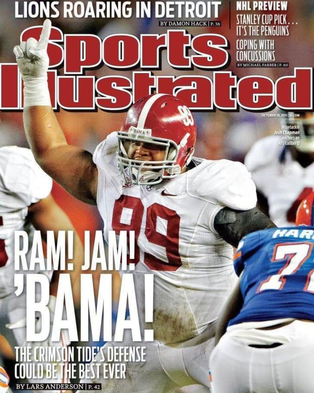 Sports Illustrated cover Josh Chapman, Oct. 10, 2011