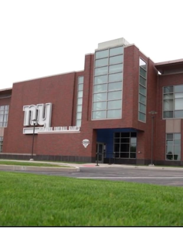 The front of the Quest Diagnostics Training Center, the East Rutherford, New Jersey headquarters of the New York Giants.