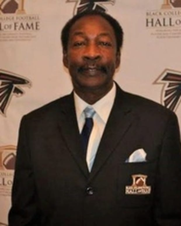 FAMU legend Ken Riley was inducted into the Black College Football Hall of Fame on Feb. 28, 2015. The event was held at the College Football Hall of Fame in Atlanta. Riley 1