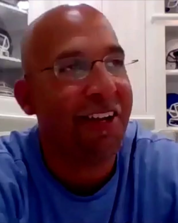 James Franklin on virtual recruiting