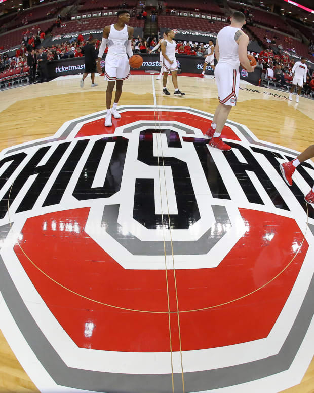 Ohio State Basketball Floor Logo