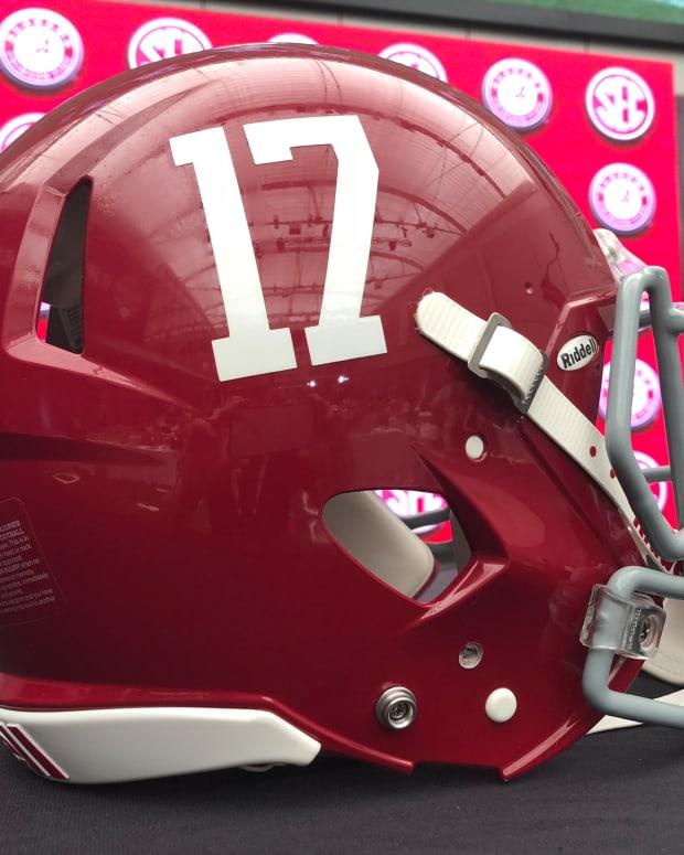 Alabama No. 17 helmet, 2018 SEC Media Days