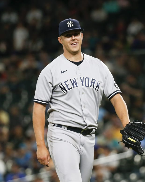 Yankees SP Jameson Taillon smiling