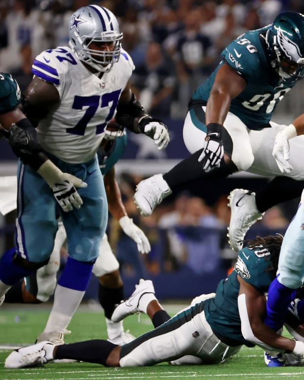 Tony Pollard and the Dallas Cowboys had a field day against the Eagles defense