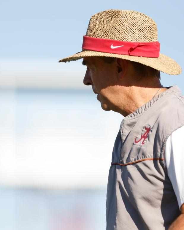 Nick Saban, Alabama practice - September 27, 2021