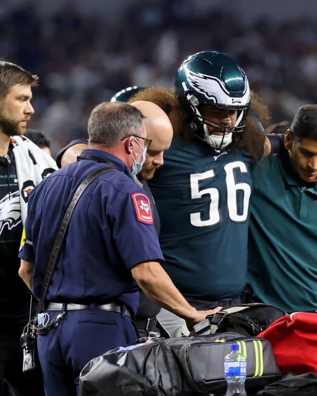 Isaac Seumalo's season is over with a Lisfranc injury