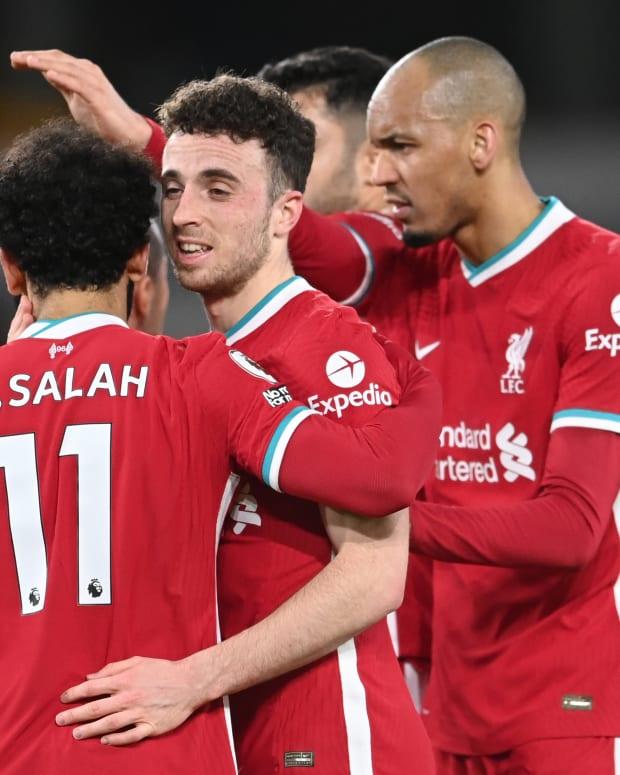Diogo Jota Fabinho Mohamed Salah