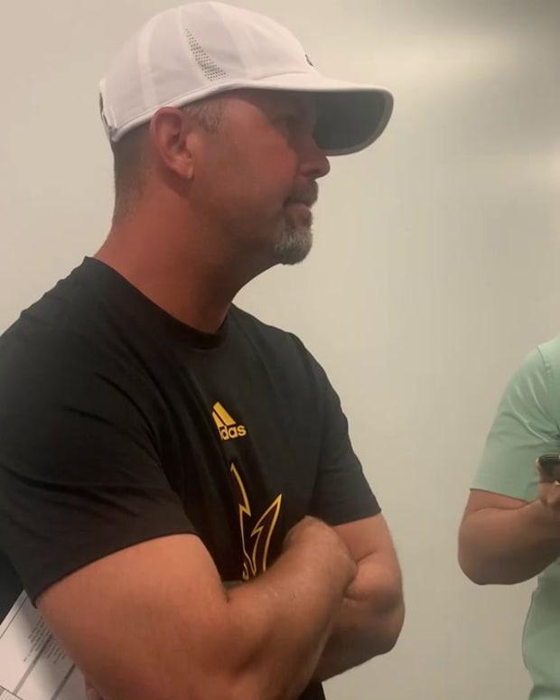 WATCH Arizona State Offensive Coordinator Zak Hill Following Win vs Stanford
