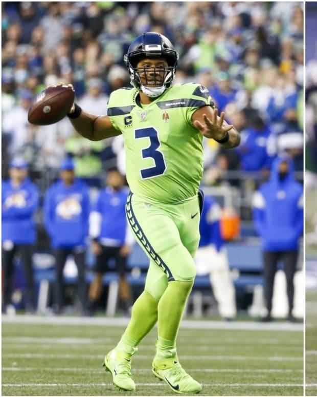 Seattle Seahawks Russell Wilson, Jamal Adams