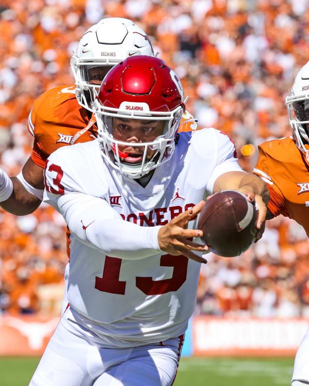 Caleb Williams - Texas reach