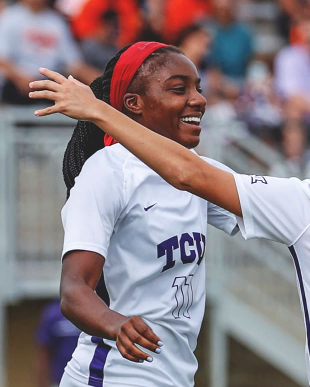TCU Women's Soccer team defeated Oklahoma State 3-0 on October 10.