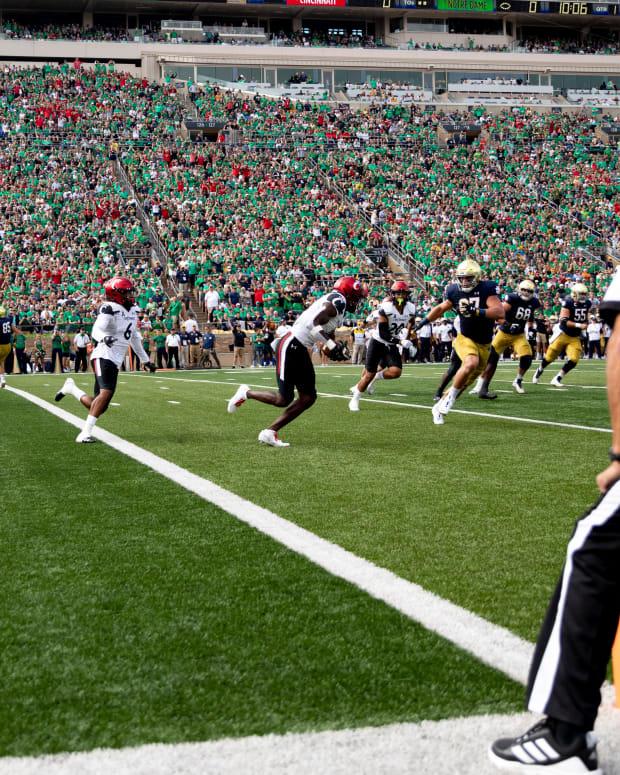 Ahmad Gardner INT versus Notre Dame