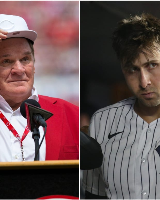 Reds legend Pete Rose, Yankees OF Joey Gallo
