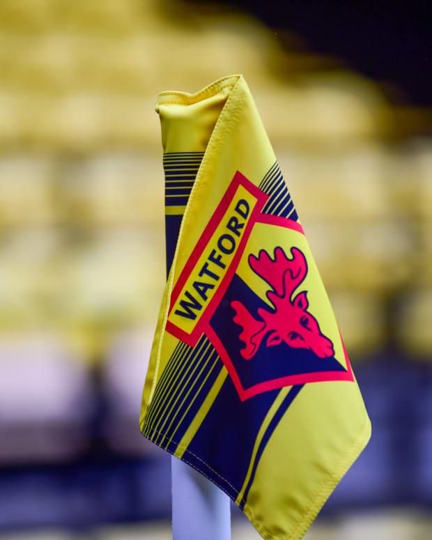 Watford Corner flag at Vicarage Road Stadium
