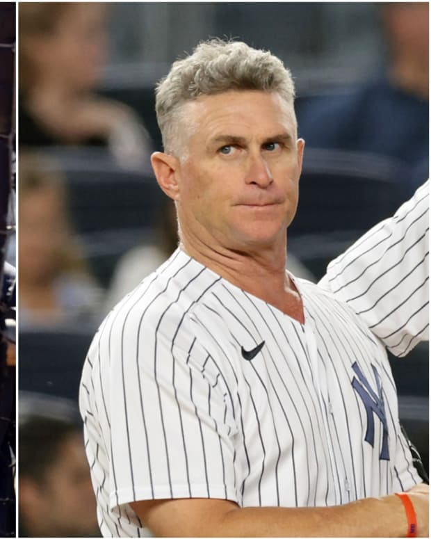 Yankees coaches Marcus Thames, Phil Nevin