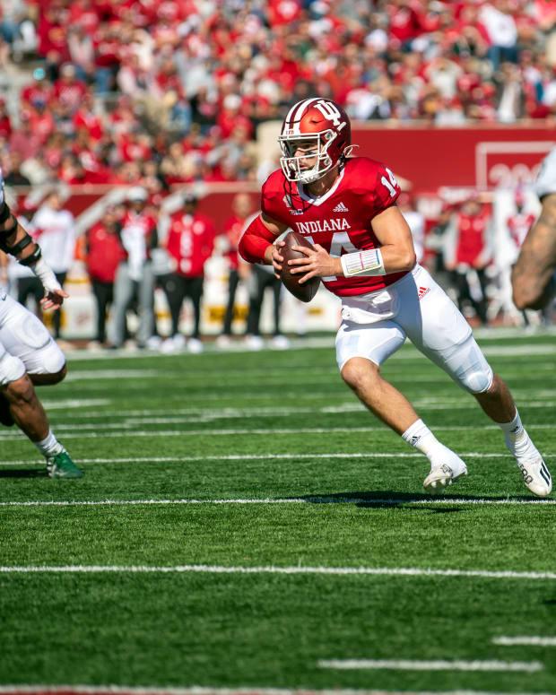 Indiana quarterback Jack Tuttle vs. Michigan State