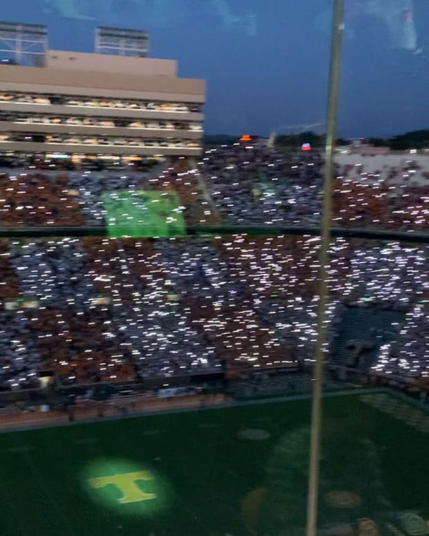 Watch: Neyland Stadium Shows Off Mind-Blowing Light Show Prior to Kickoff Against Ole Miss