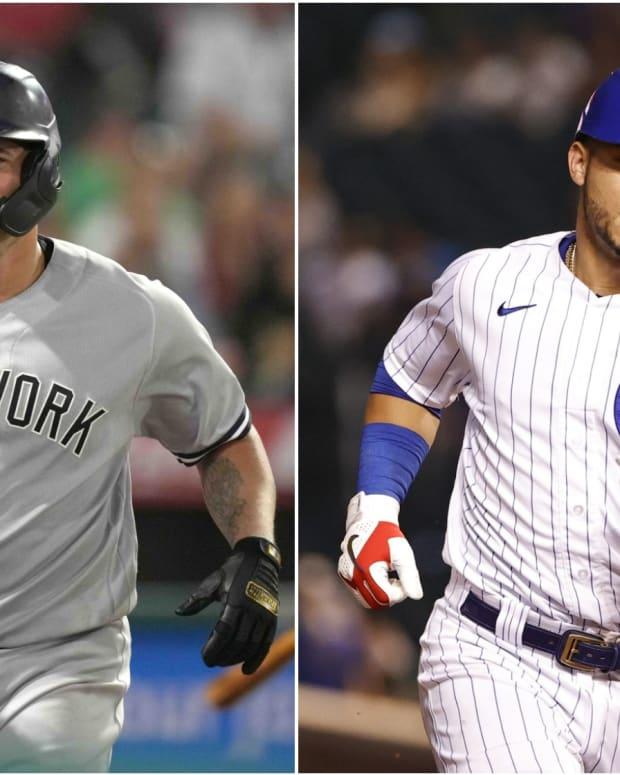 Yankees C Gary Sanchez, Cubs C Willson Contreras