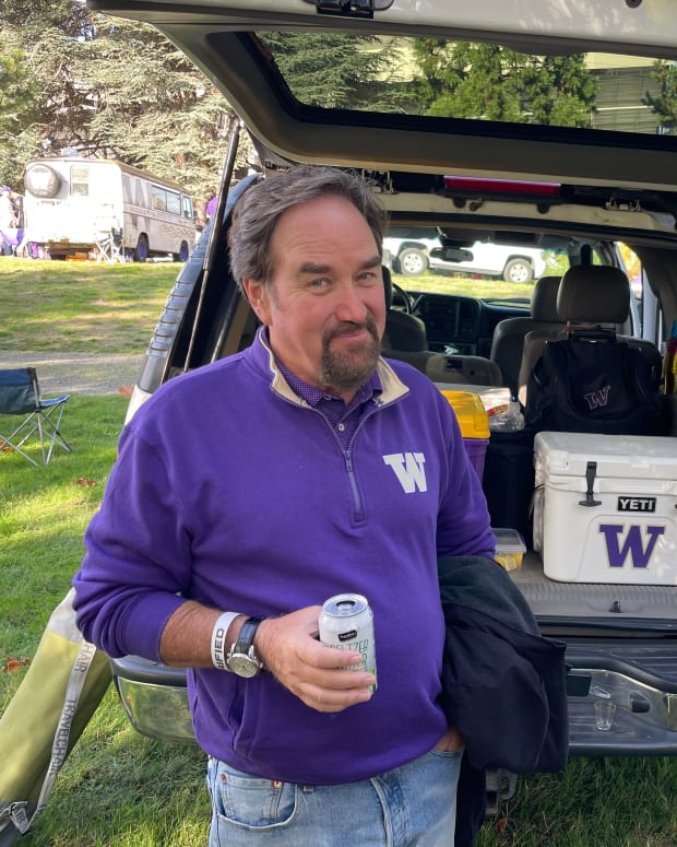 Richard Karn, 1979 UW grad and a long-time actor, came back for homecoming.