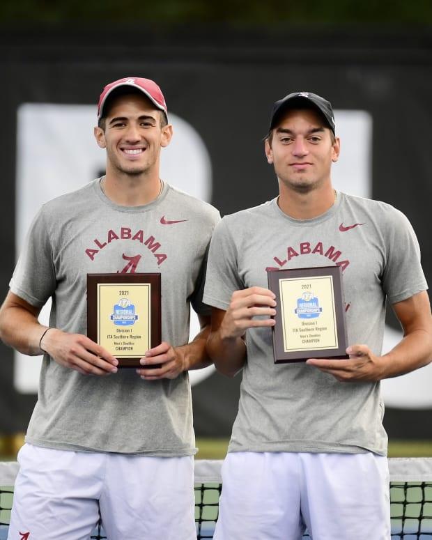 Filip Planinsek and Juan Martin, Alabama men's tennis