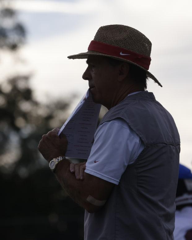 Nick Saban, Alabama practice, October 18, 2021