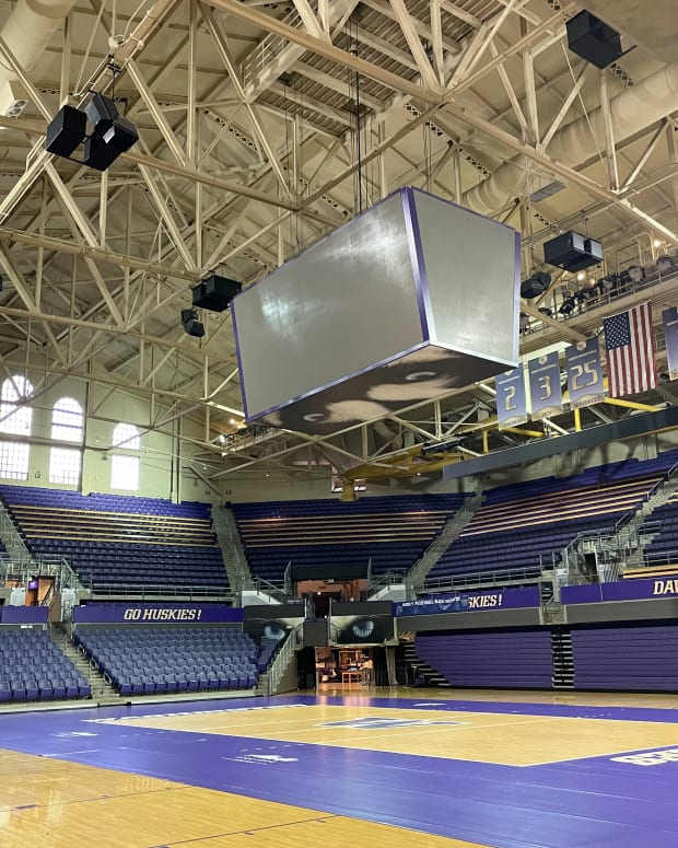 Alaska Airlines Arena is a quiet place right now.