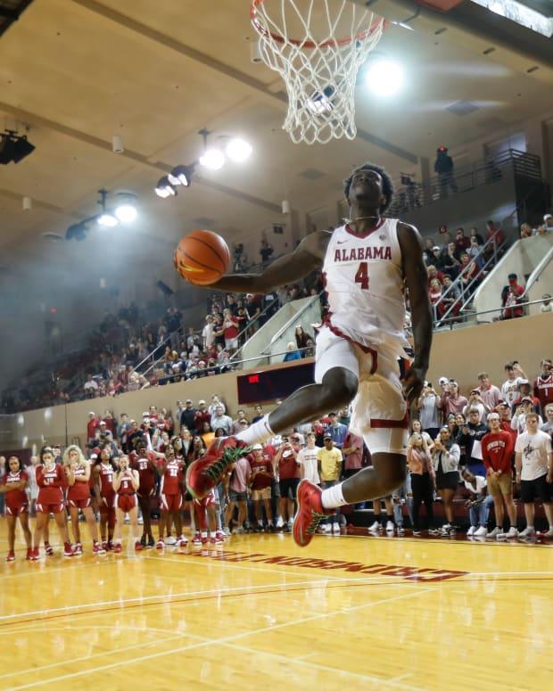 Alabama men's basketball player Juwan Gary at 2021 Tide Tipoff