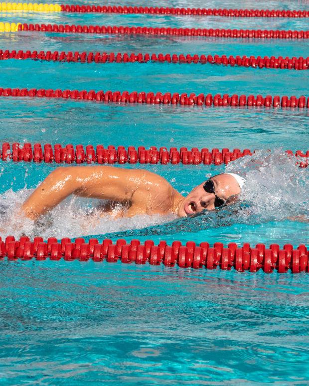 Geremia Freri is this week's Men's Swimmer of the Week and Co-Men's Newcomer of the Week