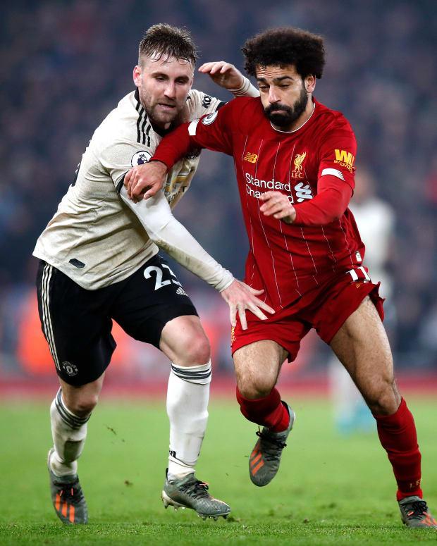 Mohamed Salah Luke Shaw