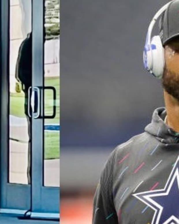 Dak Prescott at Dallas Cowboys The Star