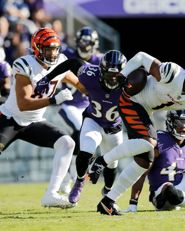 Ja'Marr Chase, Baltimore Ravens, C.J. Uzomah