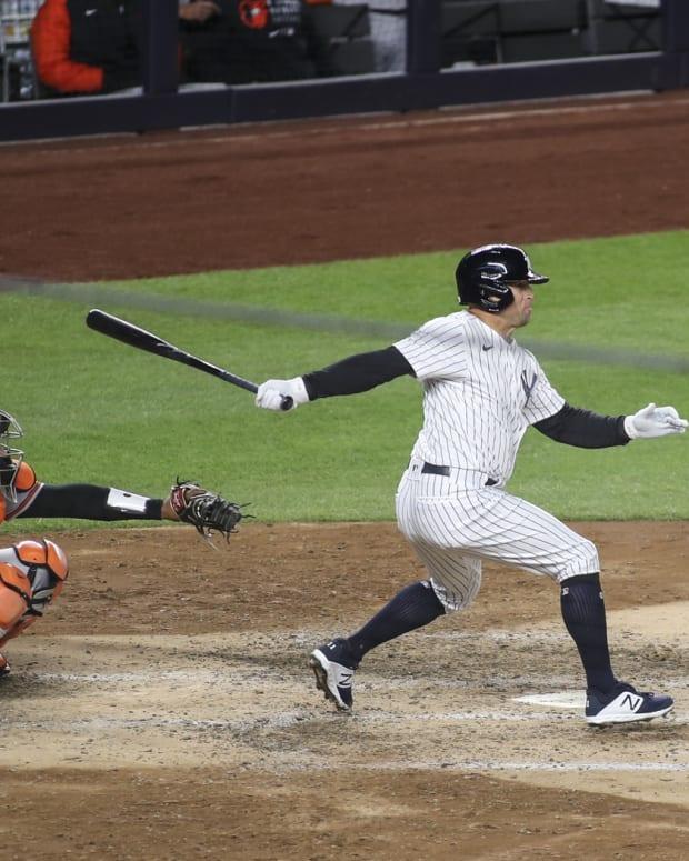 Brett Gardner hitting at Yankee Stadium