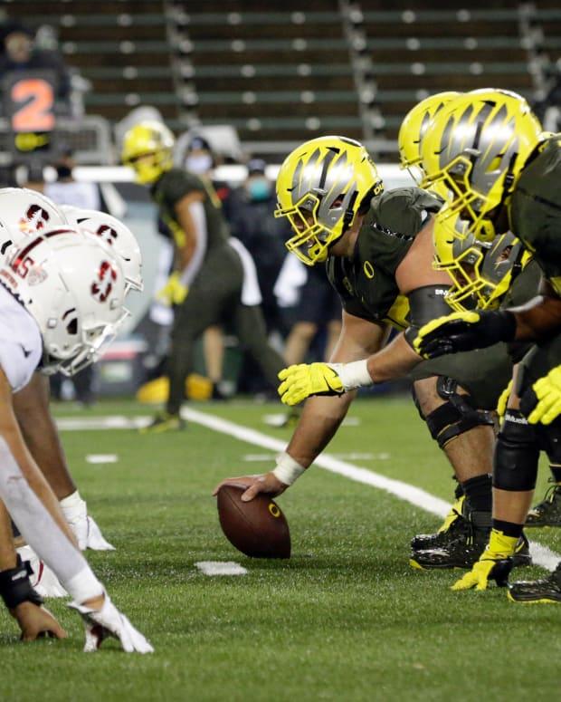 O Line vs. Stanford 2020